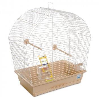 Клетка для птиц Природа Лина 51 x 55 x 27 см Белая/бежевая (4823082414994)