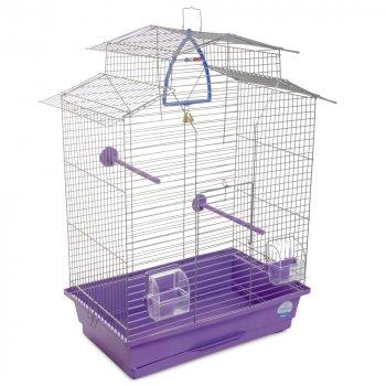 Клетка для птиц Природа Изабель-2 52 x 65 x 30 см Хром/фиолетовая (4823082414789)