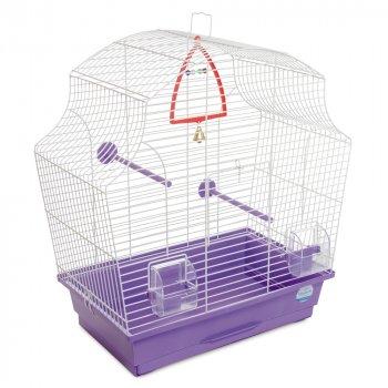 Клетка для птиц Природа Мери 51 x 55 x 27 см Белая/фиолетовая (4823082414987)