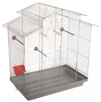 Клетка для птиц Природа Нимфа 78 x 82 x 48 см Хром/серая (4823082414703)