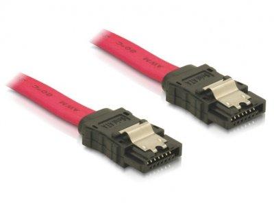Кабель накопичувача Delock SATA 7p M/M 1.0m прямий 3Gbps Latch червоний(70.08.4248)