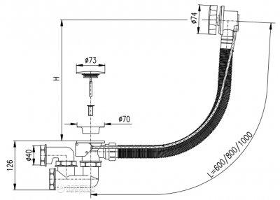 Сифон для ванны RAV SLEZAK 600 мм MD0471