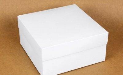 Подарункова коробка Arivans 28х28х15 см біла 98-813