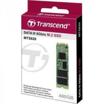 Накопитель SSD M.2 2280 480GB Transcend (TS480GMTS820S) (WY36dnd-227674)