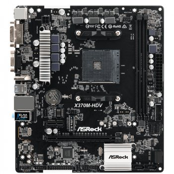 Материнська плата ASRock X370M-HDV (sAM4, AMD X370) (WY36dnd-206794)