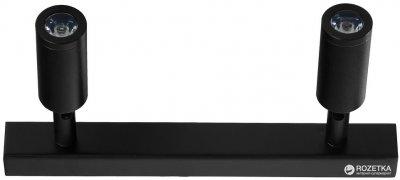 Світильник стельовий Brille HTL-186/2х3W NW BK (26-491)
