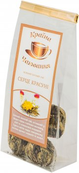 Чай Країна Чаювання зеленый связанный Сердце Красавицы 5 шариков (4820230050301)