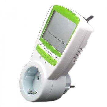 Портативный розеточный счетчик электроэнергии энергометр ваттметр бытовой TS-838 100266