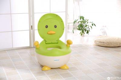 Дитячий горщик Babyhood Пінгвін зелений (BH-113G) (6923149601799)