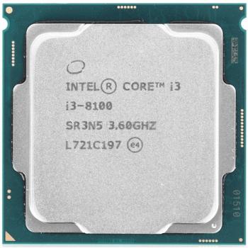 Процесор Intel Core i3-8100 3,6 GHz (Tray) (CM8068403377308) LGA1151