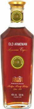 Бренді Old Armenian Reserve 4* 0.5 л 40% (4850015316018)
