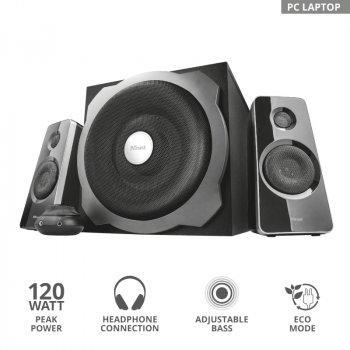 Комплект акустики 2.1 Trust Tytan Speaker Set Black