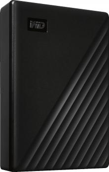 USB накопичувач HDD 4TB WD My Passport Portable External Hard Drive Black (WDBPKJ0040BBK-WESN)