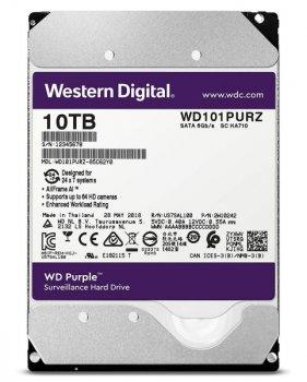 "Жорстку диск HDD 10TB Western Digital Purple Surveillance 3.5"", SATA 3, 256MB, 7200RPM (WD101PURZ)"