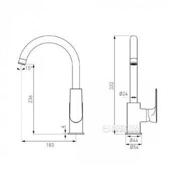 Cмеситель кухонный FERRO ALGEO Square (BAQ4)