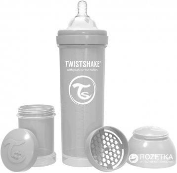 Бутылочка для кормления антиколиковая Twistshake с силиконовой соской 330 мл (7350083122667)