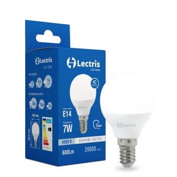 Лампа LED Lectris G45 7W 4000K 220V E14 (1-LC-1202)