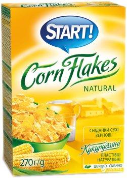 Кукурузные хлопья Start натуральные 270 г (4820008125040)