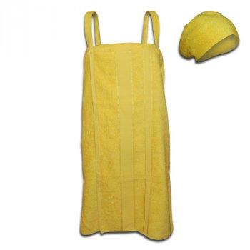 Женский комплект для бани (желтый)