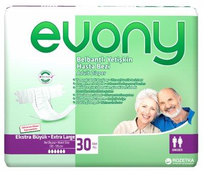 Підгузки для дорослих Evony 4 Extra Large 30 шт. (8690536804092)