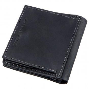 Кожаный мужской кошелек Grande Pelle leather-11222 Черный