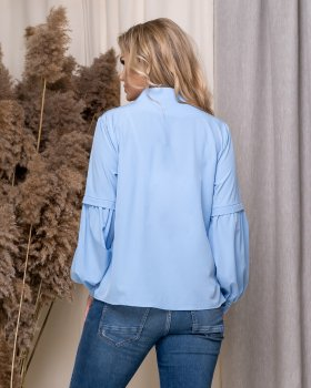 Блузка ELFBERG 5175 Блакитна