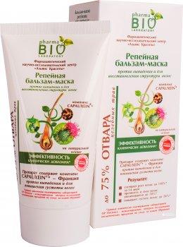 Репейная бальзам-маска Pharma Bio Laboratory против выпадения и для восстановления структуры волос 150 мл (4820074624102)