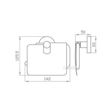 Тримач для туалетного паперу закритий AQUA RODOS GLORIA 8126 хром