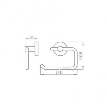 Тримач для туалетного паперу відкритий AQUA RODOS GLORIA 8116 хром