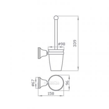 Йоржик для унітаза AQUA RODOS VICTORIA 7419 кераміка/хром