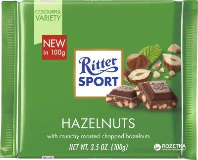 Молочный шоколад Ritter Sport с лесными орехами 100 г (4000417222008)