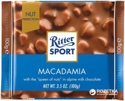 Молочный шоколад Ritter Sport с орехом макадамия Nut Selection 100 г (4000417705006)