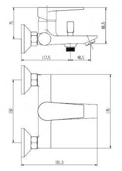 Смеситель для ванны MIXXEN Марке MXBN0477