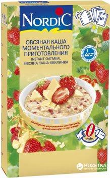 Вівсяна каша миттєвого приготування NordiC з білим шоколадом і полуницею 6 x 35 г (6411200210320)
