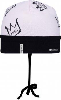 Демисезонная шапка с завязками Anmerino Микки Короны 42-44 см Розовая с черным (ROZ6205034607)