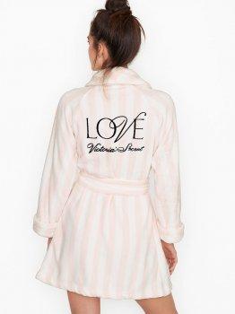 Халат Victoria's Secret 250933903 Розовый/Белый