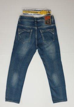 Рваные джинсы с потертостями F&D 54362 голубые