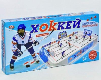 Настільний хокей Play Smart Євро-ліга чемпіонів на штангах 82х42х18 см (0704)
