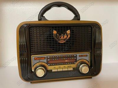 Акумуляторний радіоприймач колонка Kemai Retro (MD-1905BT) з Bluetooth і USB Black