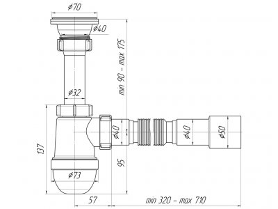 Сифон для раковины ANI PLAST C0115