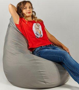 Крісло мішок груша 120х85см Сірий