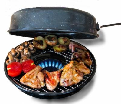 Сковорода кругла газ гриль Benson BN-801 з емальованим покриттям 32,5 см