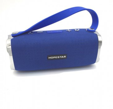 Портативная Bluetooth колонка мощная с влагозащитой Hopestar H24 Sound System Pro 21.6x9.6x8.3 см Blue