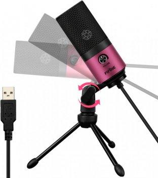 Студійний мікрофон Fifine K669 Black/Rose