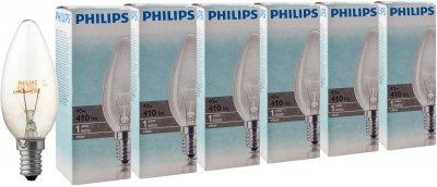 Лампа накаливания Philips Stan 40W E14 230V B35 CL 6 шт (926000006897S)