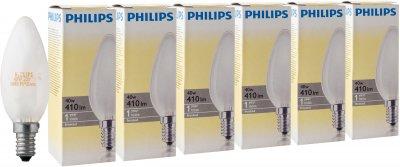 Лампа накаливания Philips Stan 40W E14 230V B35 FR 6 шт (926000006933S)