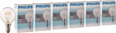Лампа розжарювання Philips Stan 40 W E14 230 V P45 CL 6 шт. (926000006511S)