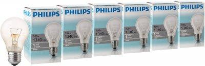Лампа розжарювання Philips Stan 100 W E27 230 V A55 CL 6 шт. (926000004012S)