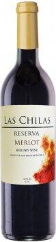 Вино Las Chilas Reserva Merlot красное сухое 0.75 л 12.5% (7808765732814)