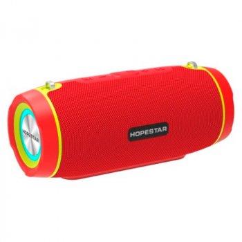Портативна бездротова Bluetooth колонка Hopestar Hopestar H45 Party 10Вт Red з вологозахистом IPX7 і функцією зарядки пристроїв (H45R)